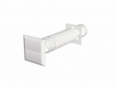 Make Tumble Dryer Extraction Kit - Gravity Flap White - 100mm